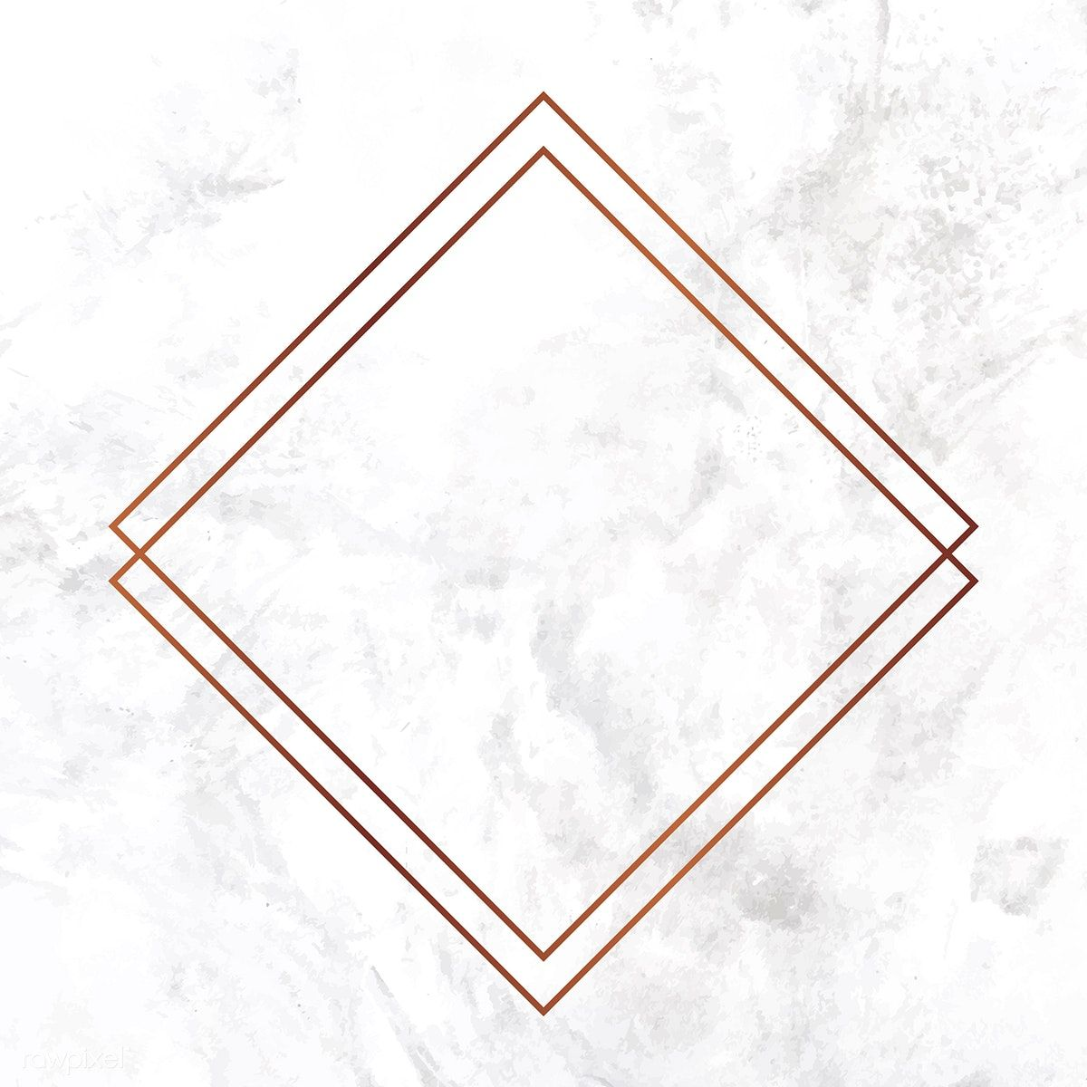 Download Premium Vector Of Rhombus Copper Frame On Marble Background Marble Background Copper Frame Floral Border Design