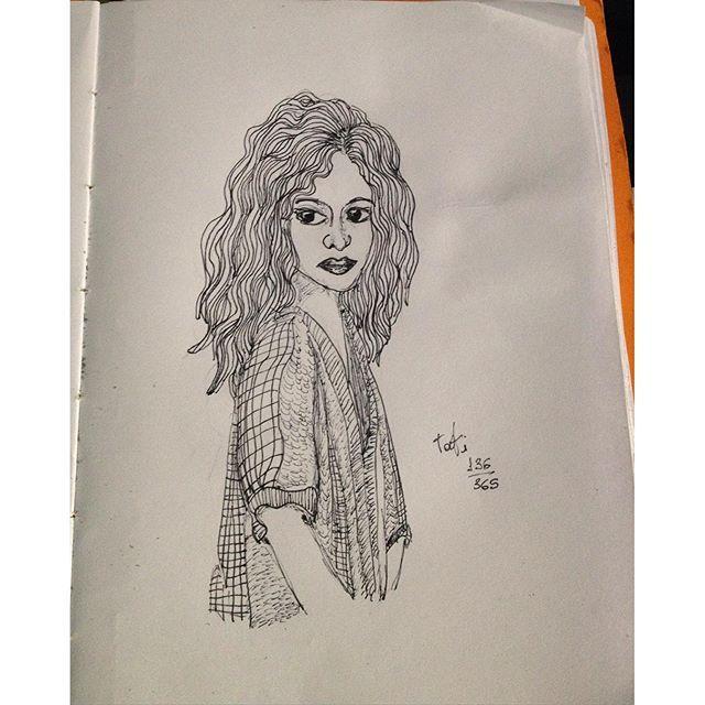 Sabado, dia 136/365 #drawing #desenho #dibujo #sketch #sketchbook #doodle #365