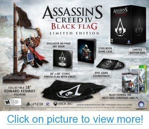 Assassin S Creed Iv Black Flag Limited Edition Xbox One Assassins Creed Iv Black Flag Assassins Creed Black Flag Assassin S Creed Black Assassins Creed