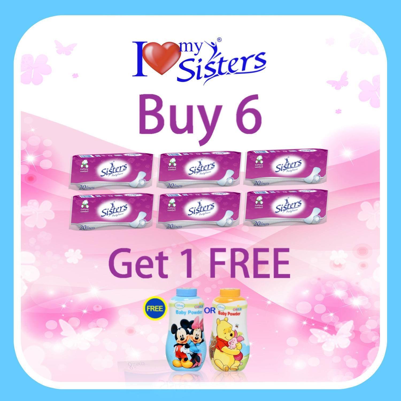 Sisters Pantyliner Budget Pack promo! Buy six (6) Sisters