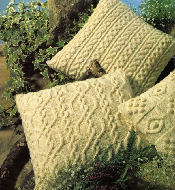 Details about Knitting Pattern for FOUR Beautiful Aran ...