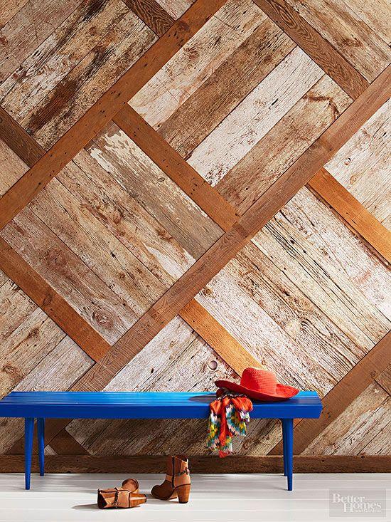 20 Brilliant Uses for Reclaimed Wood Vida nueva, Paredes de madera - paredes de madera