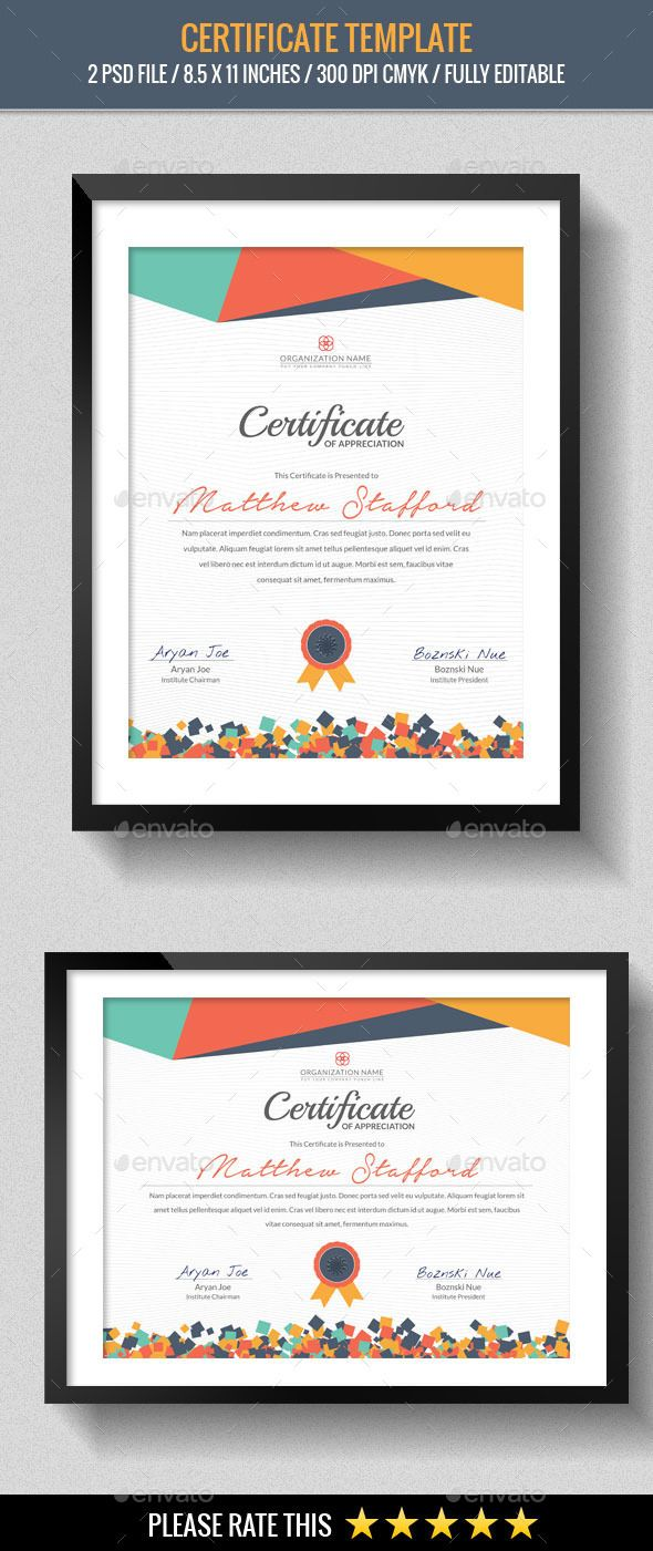 Multipurpose Certificates Template | Zertifikat design, Zertifikat ...
