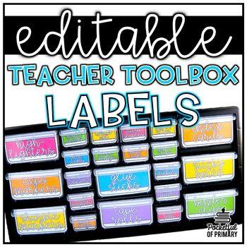 Teacher Toolbox Labels Editable Teacher Toolbox Labels Teachers Toolbox Teacher Organization