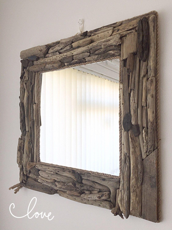 Large Driftwood Mirror, Large Square Mirror, Nautical Decor, Isle of ...