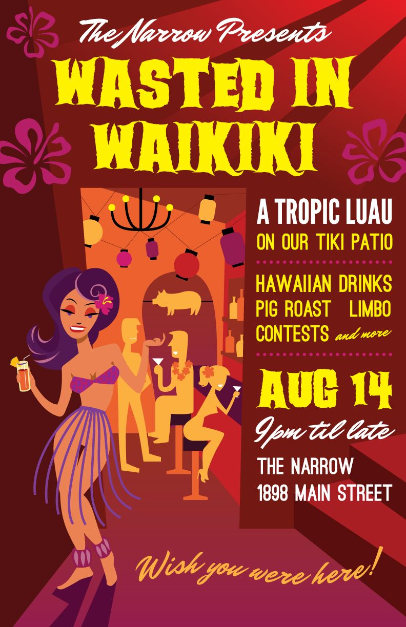 Poster design vancouver - Luau Poster For The Narrow Lounge In Vancouver Bc By Http