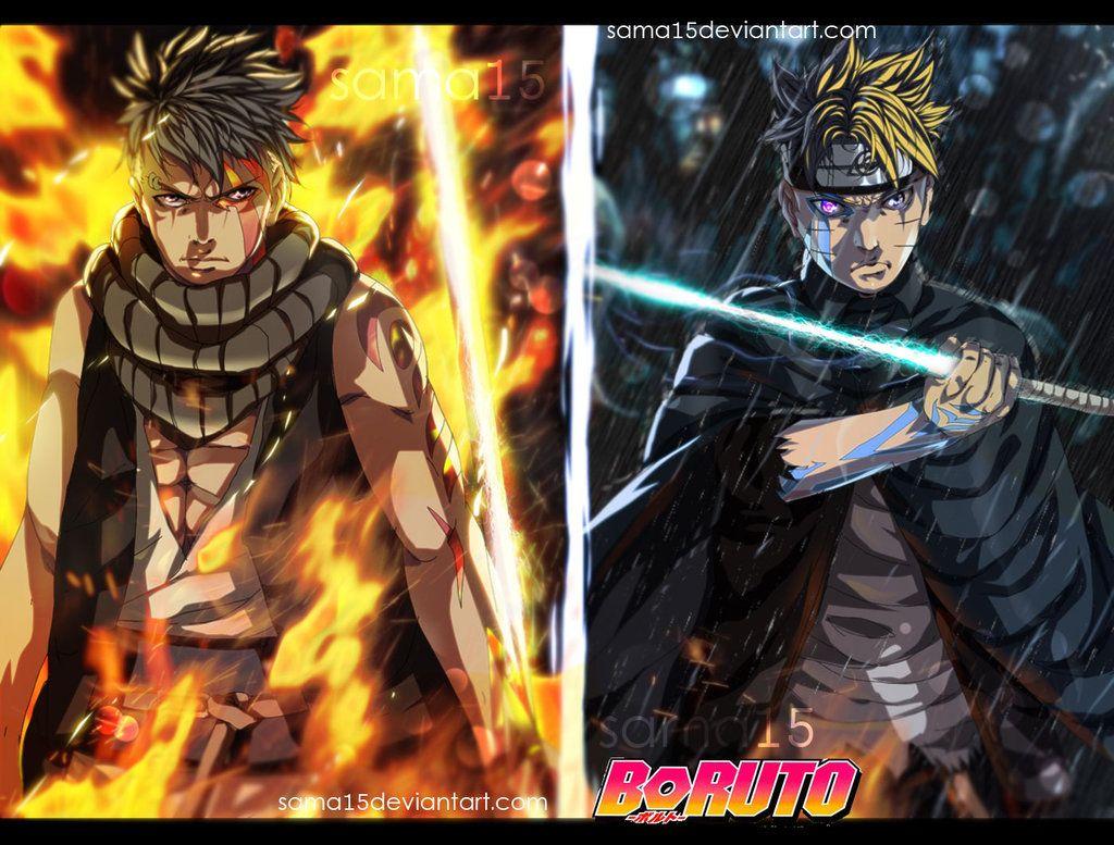 Boruto Vs Kawaki By Sama15 On Deviantart Anime Boruto Naruto And Sasuke Wallpaper
