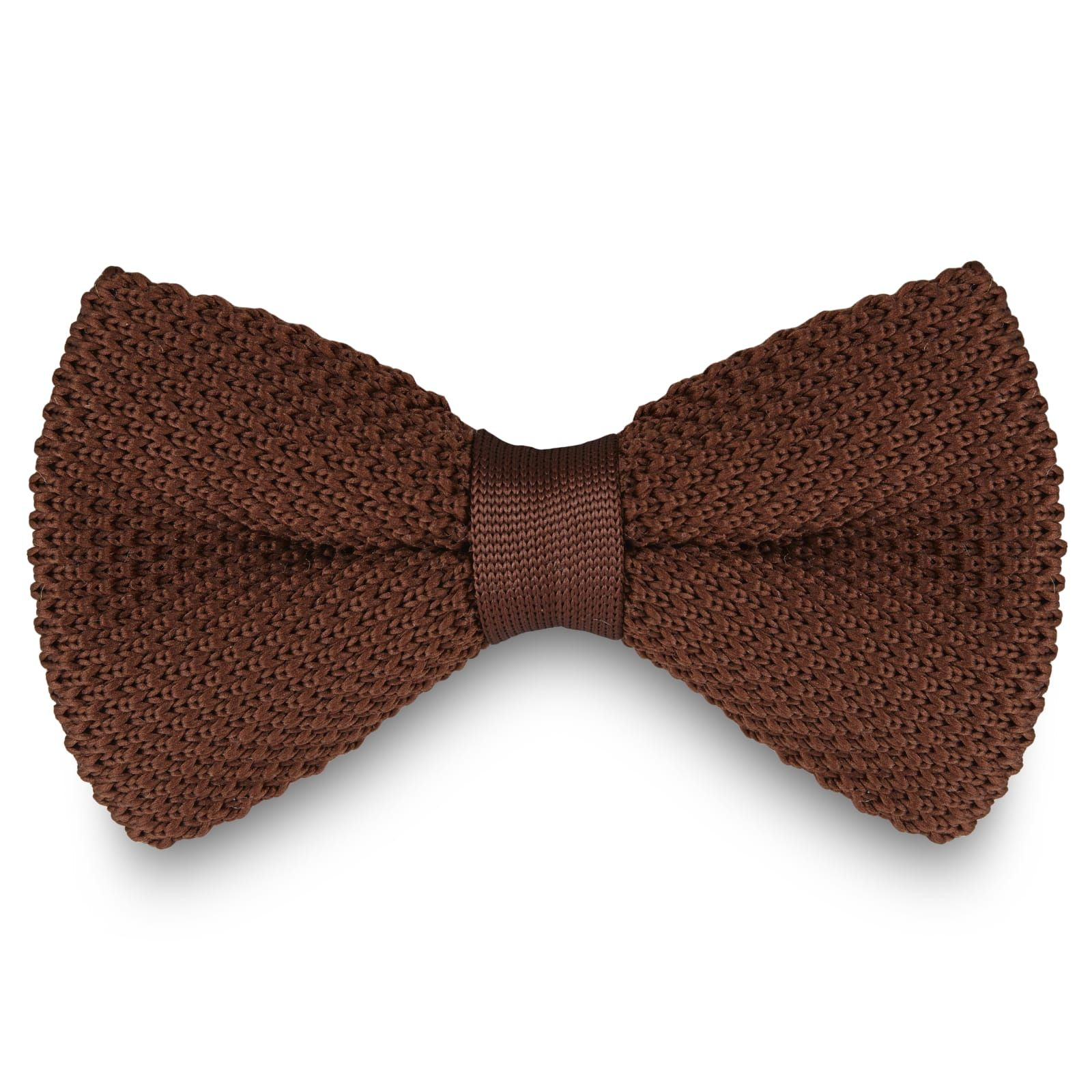 Photo of Chocolate Knitted Bow Tie | In stock! | Tailor Toki
