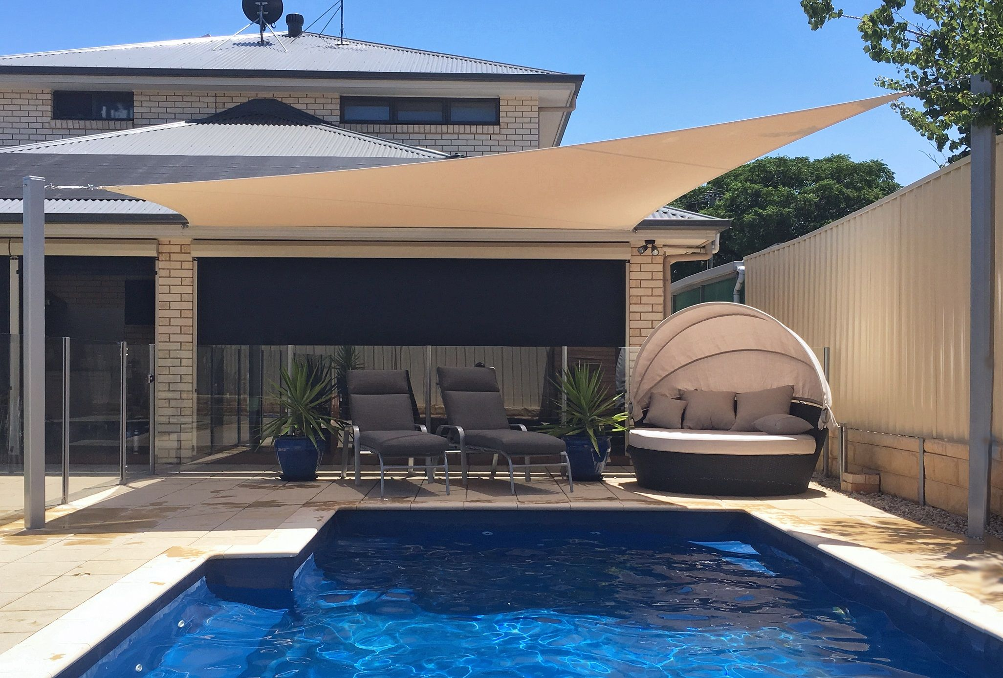 Shade Ideas - Shade Sails for Pools, Patios, Decks | Shadeform Sails ...