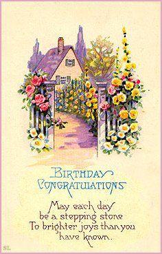 Victorian Birthday Cards Birthday Wishes Greeting Cards Vintage Greeting Cards Happy Birthday Vintage