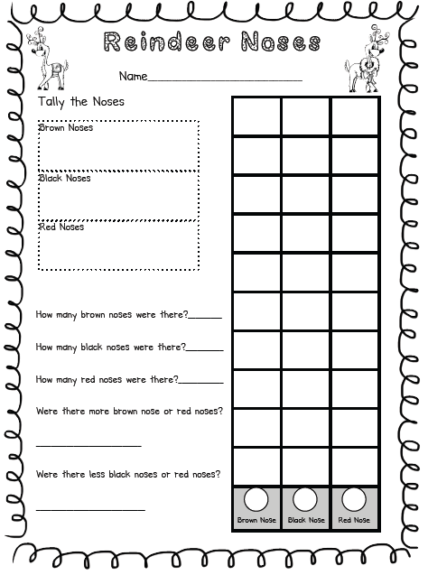 Primary Possibilities- Christmas Graphing Freebies