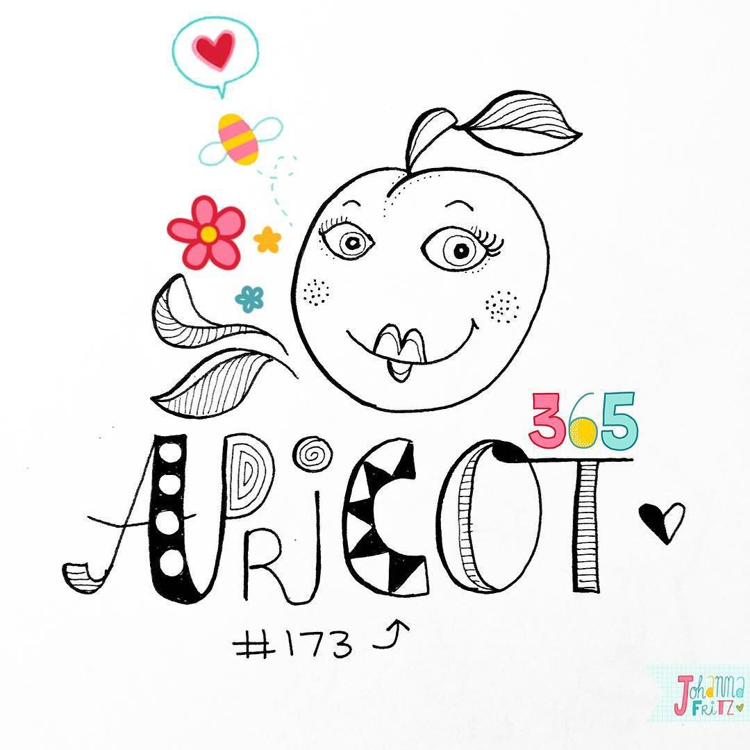 Doodle 173/365: Apricot  #365doodleswithjohannafritz  That makes me want to have summer back  by byjohannafritz