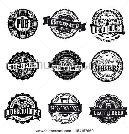 stock vector of retro styled label set of beer vector art by kalistratova from the collection istock get affordable vector art at thinkstock