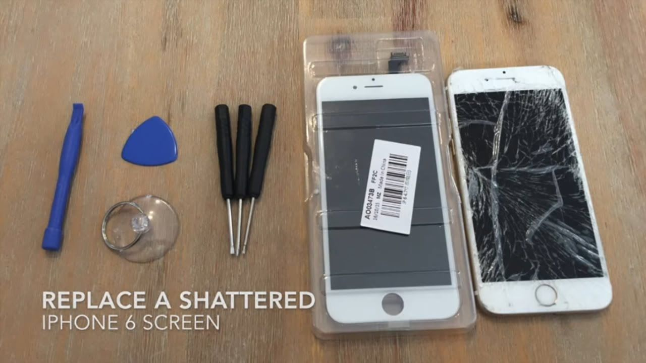 How To Replace A Shattered Iphone 6 Screen Iphone 6 Screen Iphone Repair Iphone