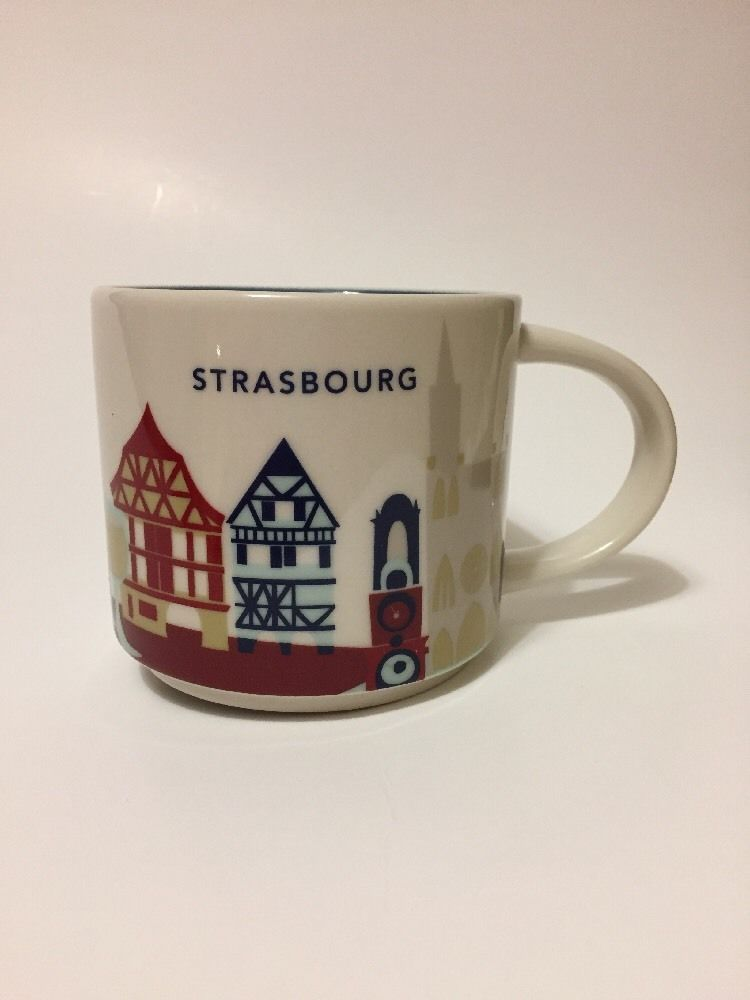 d8d4a455146 Starbucks Strasbourg YAH Mug Cathedral Coffee Cup You Are Here Alsace  France New #Starbucks