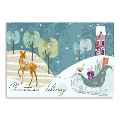 Americanflat 'Christmas Delivery' by Advocate Art Graphic Art Size: