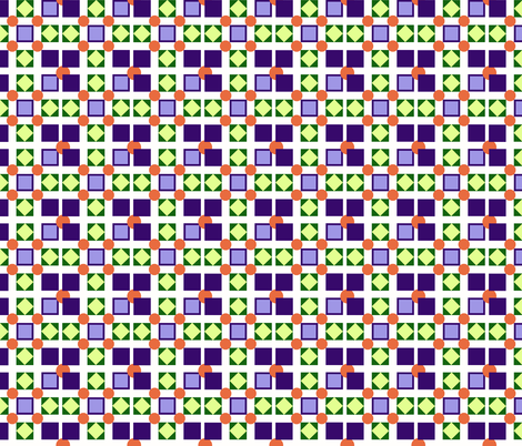 squares and more_ geometrics white_purple fabric by anino on Spoonflower - custom fabric