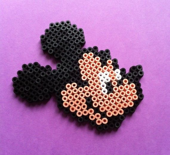 Mickey And Minnie Mouse Perler Bead By Mofuruchan