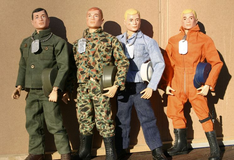 "The iconic G.I. Joe military doll was introduced in February of 1964. Over the years he grew ""life-like"" hair and beards, developed a ""Kung-Fu grip"" and branched out racially and in gender. Joe also shrank. The original dolls stood 12 inches tall. Later a 3 3/4-inch version was developed."