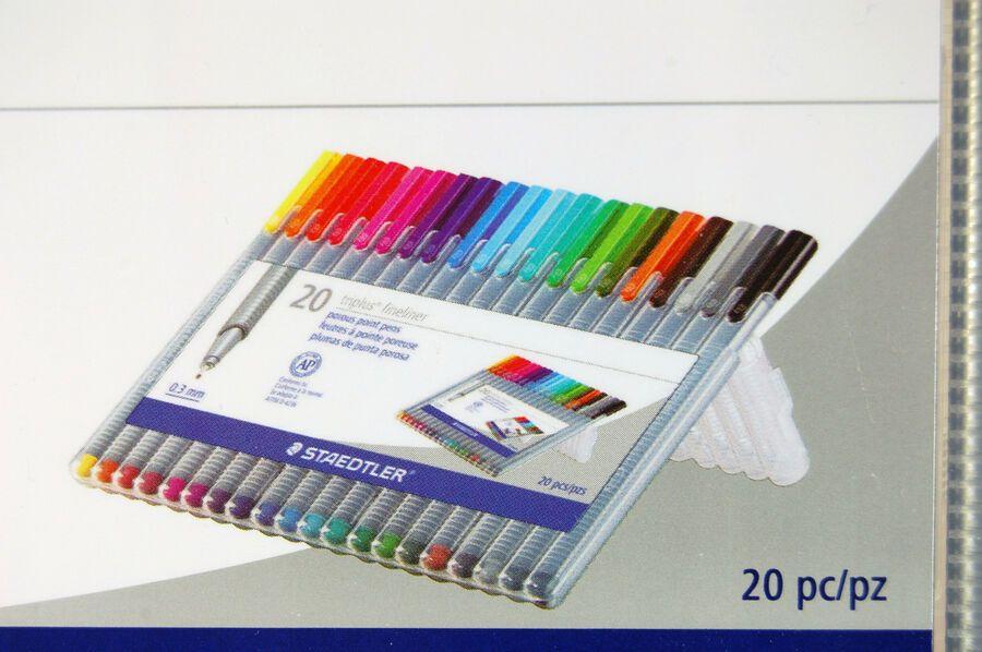 Staedtler Triplus Fineliner 0.3mm Pens ~ 10 Colors ~ Brand New