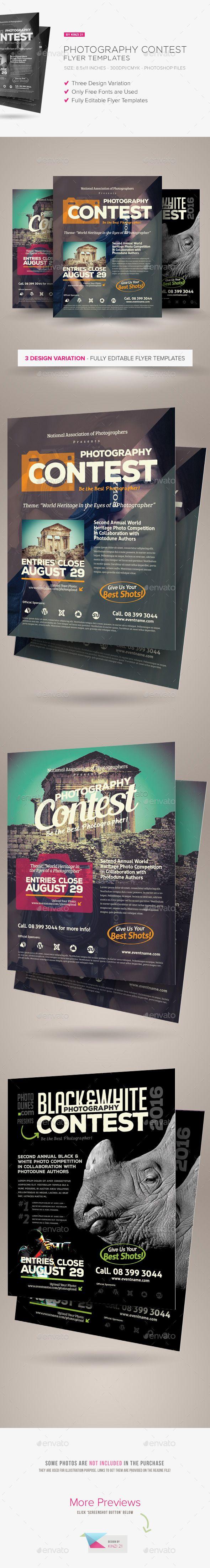 Photography Contest Flyers Flyer Templates Pinterest