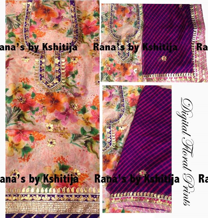 Floral fashion and traditional leheriya, we blend it and make it.