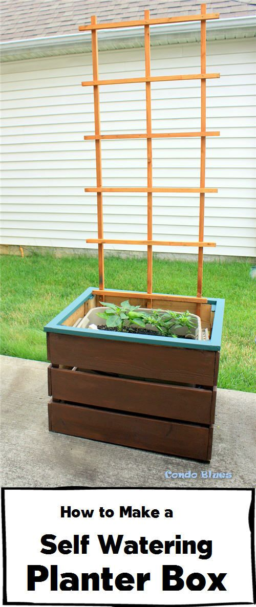 How To Make A Self Watering Planter Box Pinterest Planters