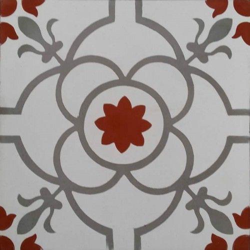 Moroccan Encaustic Cement Pattern Grey Tile Pre Sealed €3.05