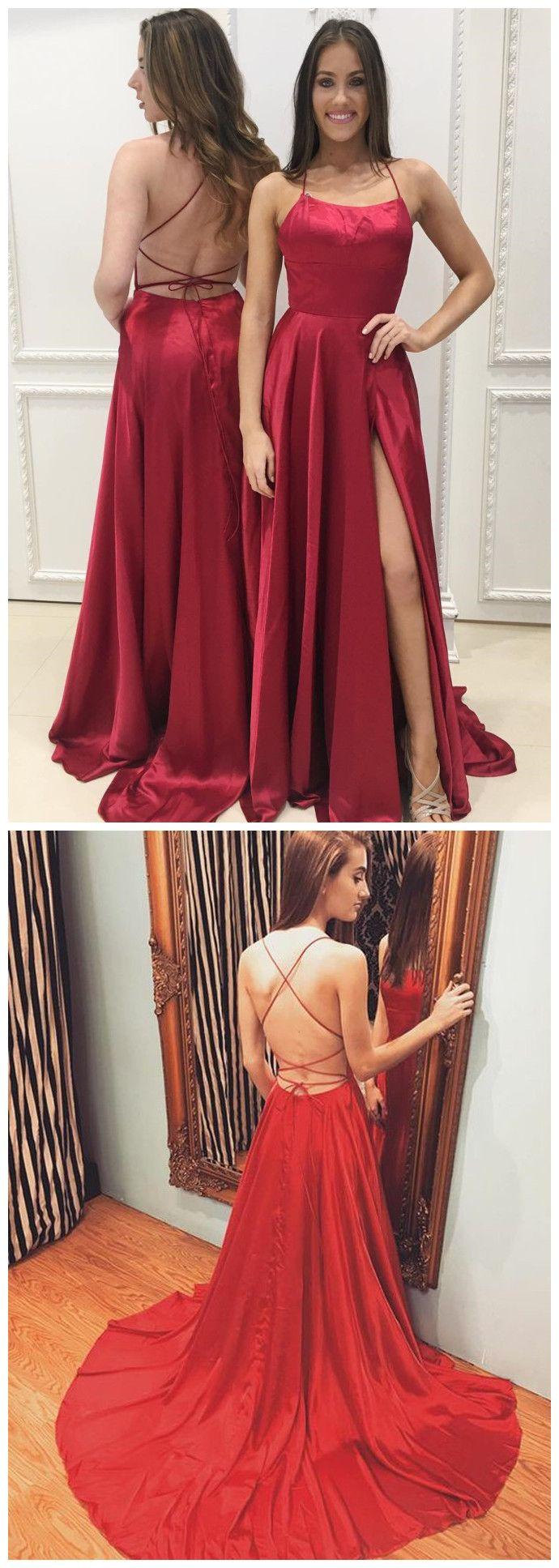 Simple prom dresses aline spaghetti straps hunter cheap prom dress