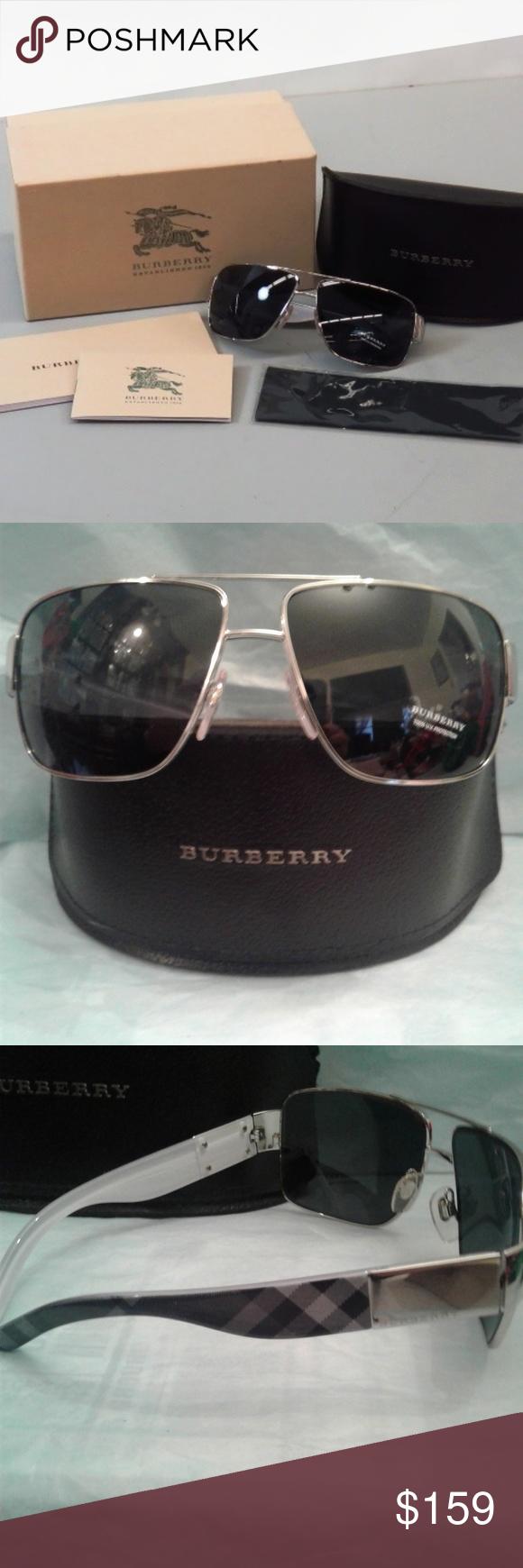 d56aea6f4b7 ⭐NWOT⭐😎Burberry Unisex Sunglasses 😎 ⭐NWOT ⭐😎 Burberry Unisex full gold  tone rim Aviator style sunglasses BE 3040 1005 87😎 Still has original  sticker ...