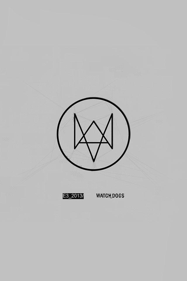 Freeios7 Watchdog Gray Logo Parallax Hd Iphone Ipad Wallpaper Iphone Watch Watch Dogs Logo Wallpaper Hd