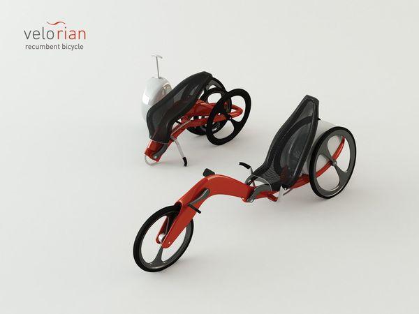 Velorian Folding Recumbent Trike On Behance Motocikl Mini