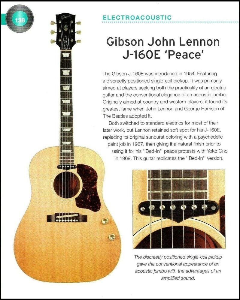 Gibson John Lennon J 160e Everly Brothers J 189 Acoustic Guitar History Article Gibson John Lennon Gibson Acoustic Guitar