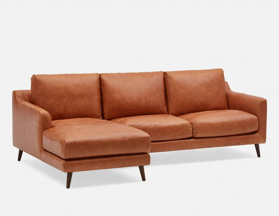 Fine Maker 100 All Leather Sectional Sofa Left Copper 1 Machost Co Dining Chair Design Ideas Machostcouk