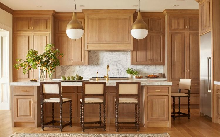 Things We Love Blonde Wood In Any Space Design Chic Natural Wood Kitchen Cabinets White Oak Kitchen Oak Kitchen