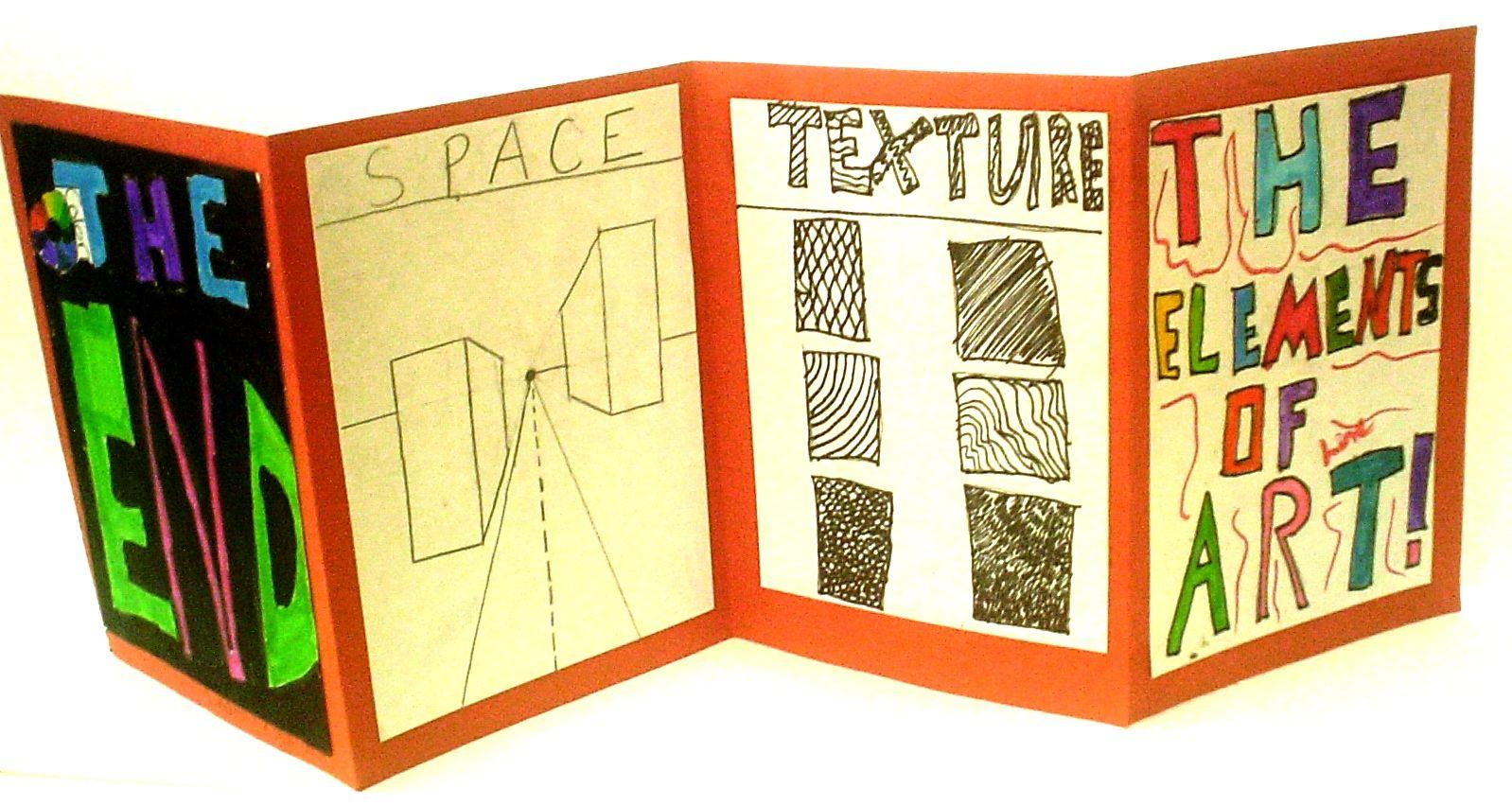 Elements Of Art Accordion Book