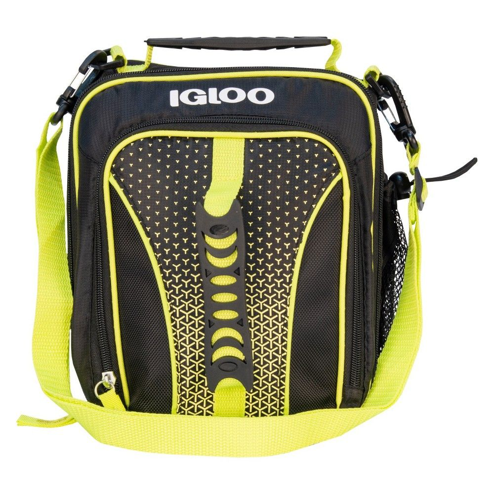 e263894d303 The sporty Hot Brights Vertical Lunch by Igloo is a versatile insulated  lunch cooler that has 2 fun ways to carry. The rubberized gripper handle  allows you ...