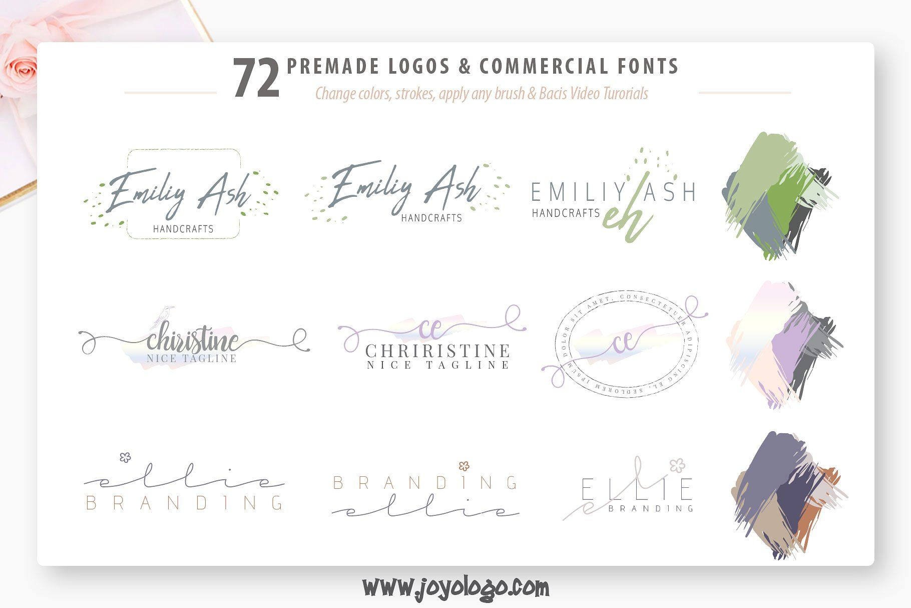Download Ladyholic Premade Logo Branding Pack | Premade logo, Logo ...