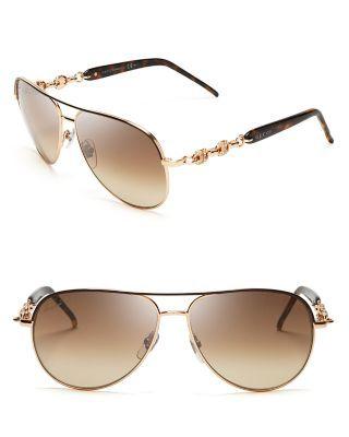 0b75659f69e Gucci Crystal Chain Link Aviator Sunglasses