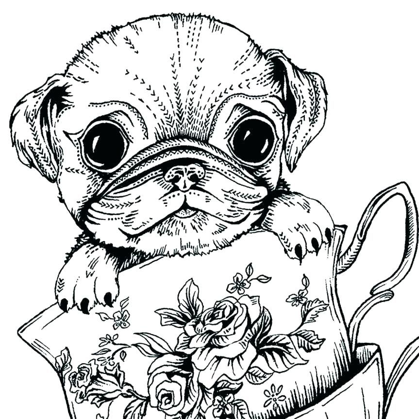 Cute Dog Coloring Pages For Adults in 2020 (With images