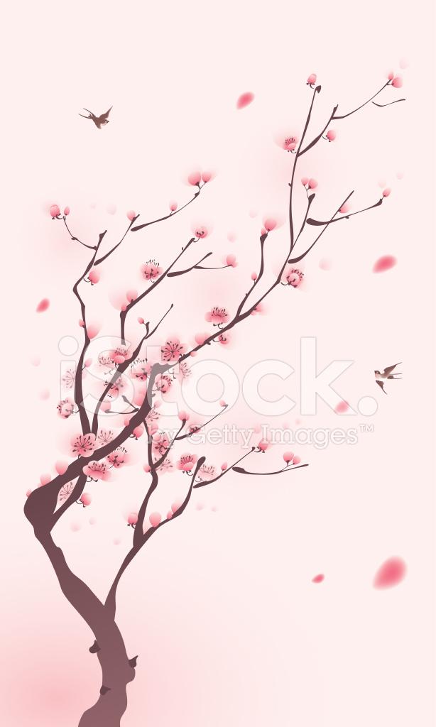 Cherry Blossom Tree Drawing Google Search Cherry Blossom Painting Cherry Blossom Cherry Blossom Tree