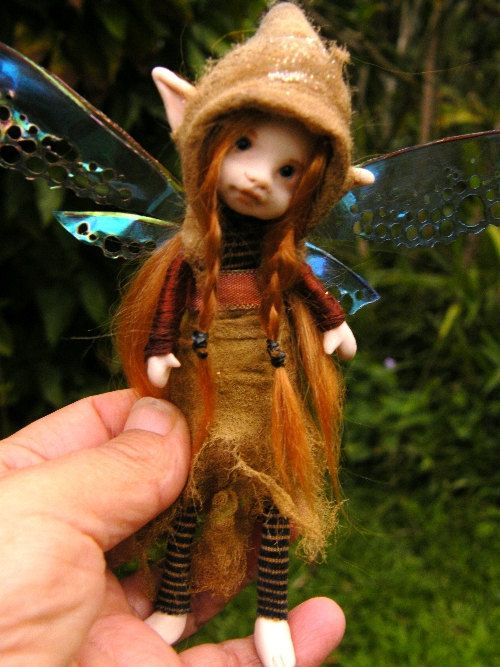 Sweet 6in Posable Forest Fairy Fairie With By