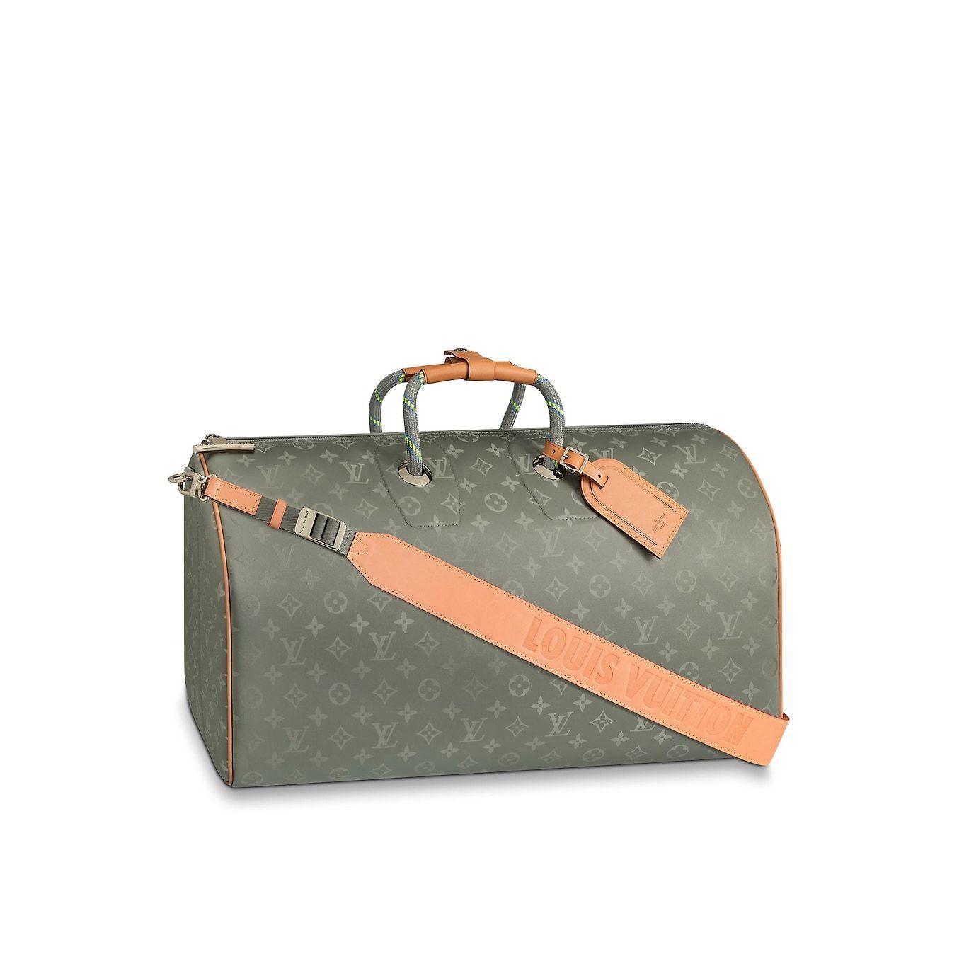 ab5ba3bb5117 Men - Keepall Bandouliere 50 Monogram TItanium Men Travel Softsided Luggage
