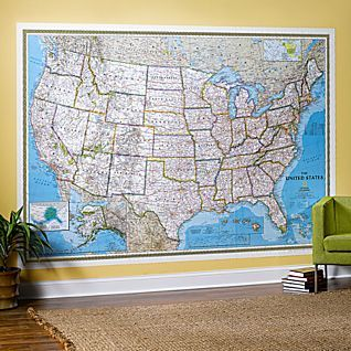 Large Laminated Us Map.Pin By Natalie Beck On Office Pinterest Wall Maps Map And Wall
