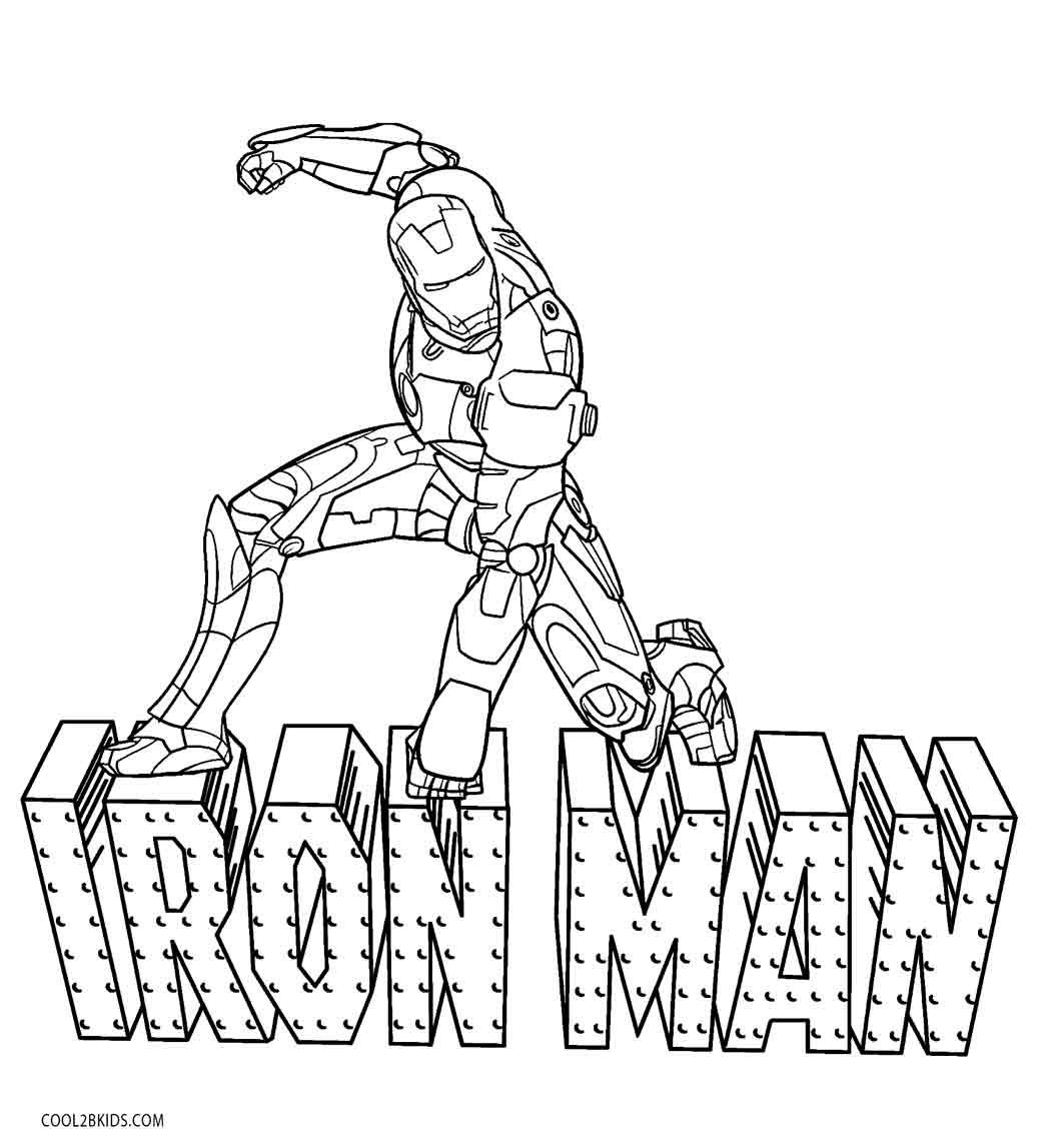 Iron Man Coloring Pages   Avengers coloring pages