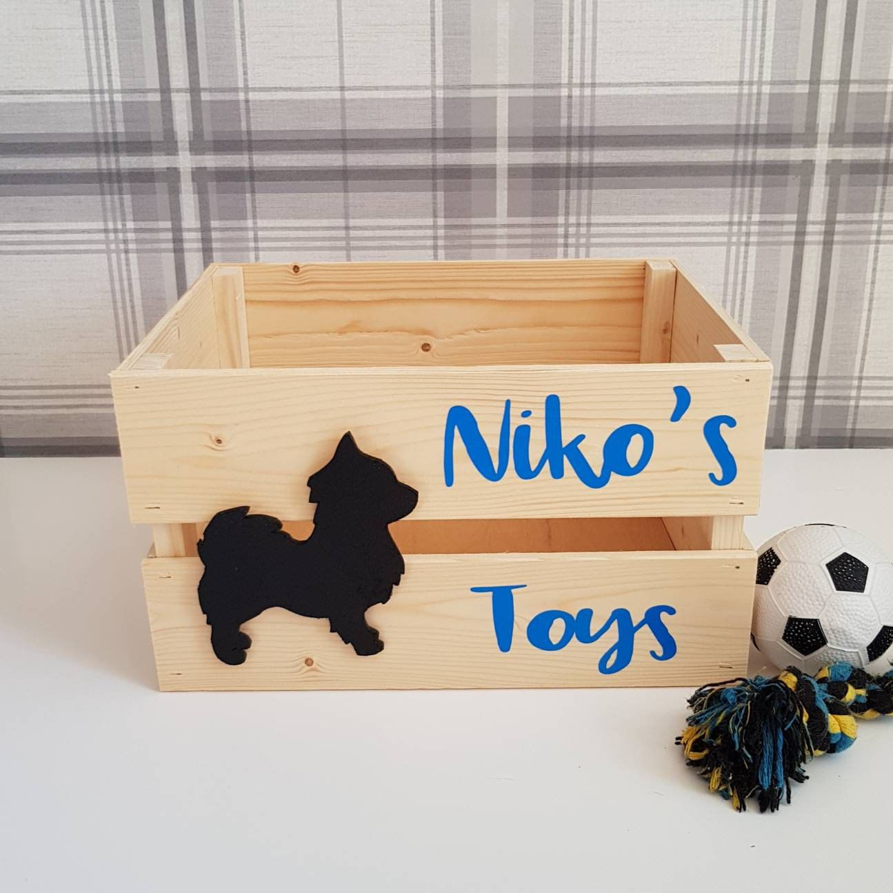 Dog Toy Box Dog Toy Storage Personalised Toy Crate Dog Toy