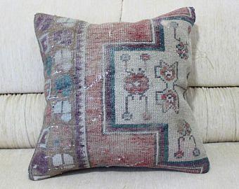 Kilim Pillow Rare Kilim Pillow Striped Pillow Turkish Home Decor