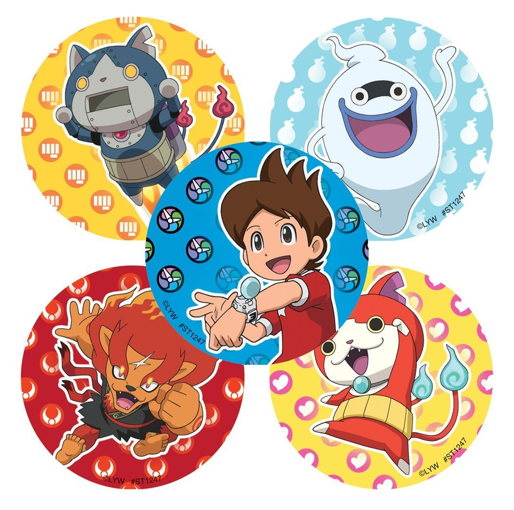 30 yo kai watch stickers assorted 25x25 each party favors card party kristyandbryce Image collections