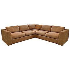 Debenhams Large Tan Leather Paris Corner Sofa
