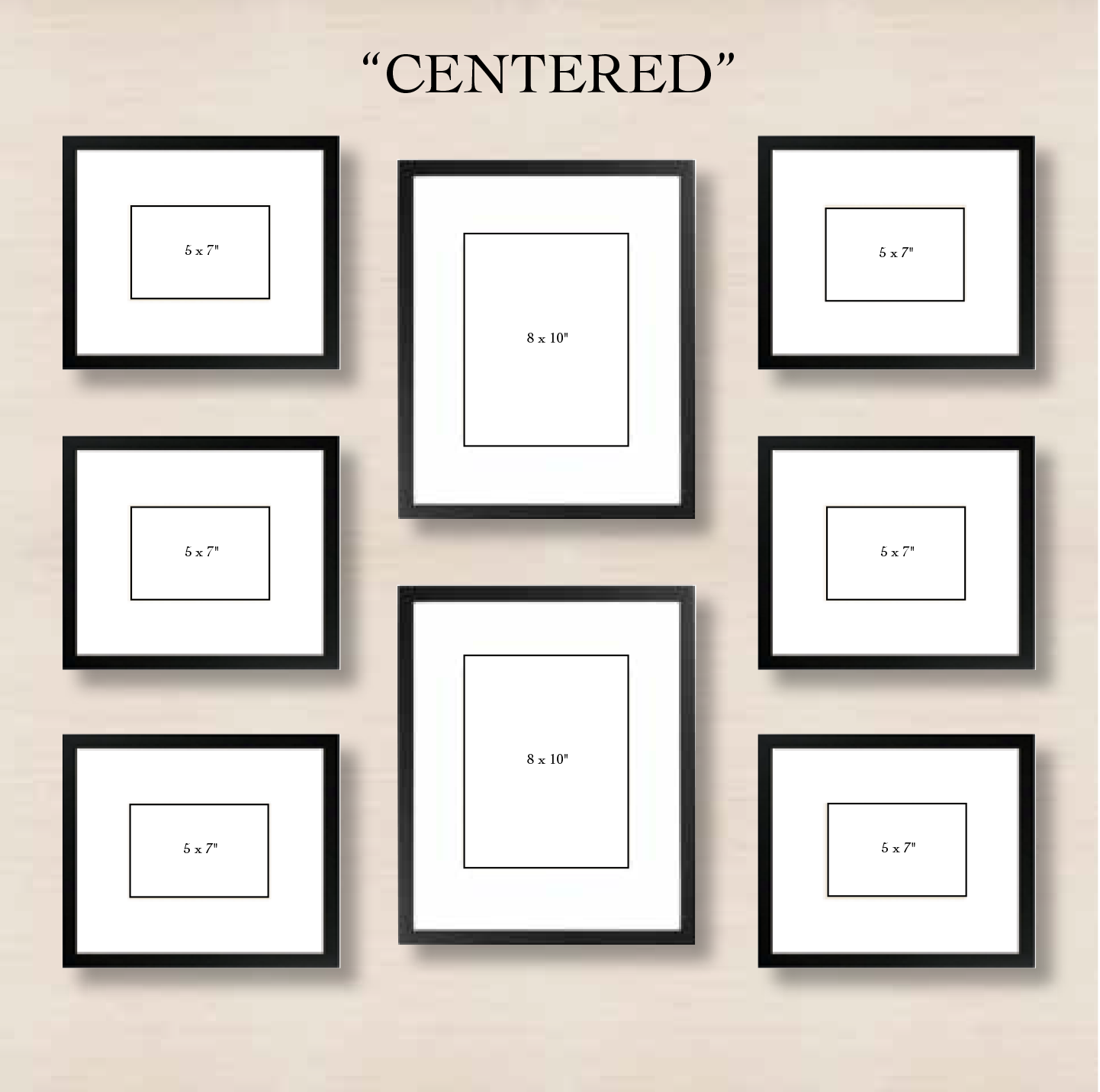 6 ways to set up a gallery wall minimal layouts and gallery wall 6 ways to set up a gallery wall centered this simple layout requires minimal effort just choose one or two frames to center and align the left and right jeuxipadfo Gallery
